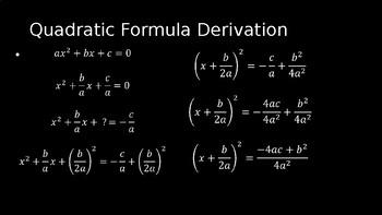 Quadratic Formula - PowerPoint Lesson (6.2)