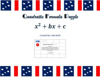 Quadratic Formula Puzzle (x2 + bx + c)