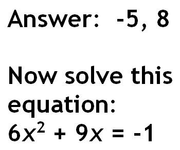 """Quadratic Formula """"Scavenger Hunt"""""""