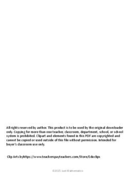 Quadratic Formula Scramble Puzzle Activity (No Pictures)