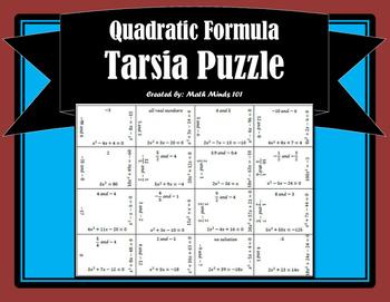 Quadratic Formula - Tarsia Puzzle