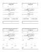 Quadratic Formula Template - 4 to a page