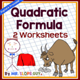 Quadratic Formula Worksheet #1 (Solving Quadratic Equations)