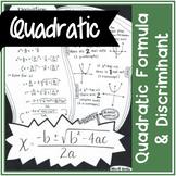 Quadratic Formula (& derivation) and Discriminant   Doodle Notes
