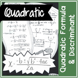 Quadratic Formula (& derivation) and Discriminant | Handwritten Notes + BLANK