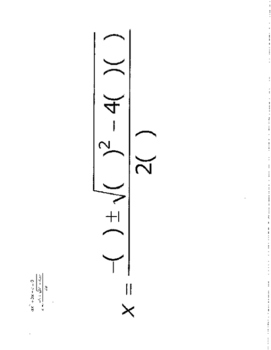 Quadratic Formula fill in