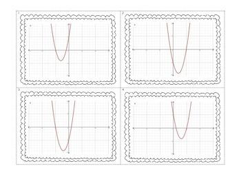 Quadratic Function Features Card Sort