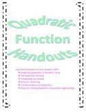Quadratic Function Handouts