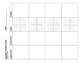 Quadratic Function Puzzle