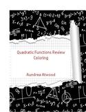 Quadratic Function Review Coloring