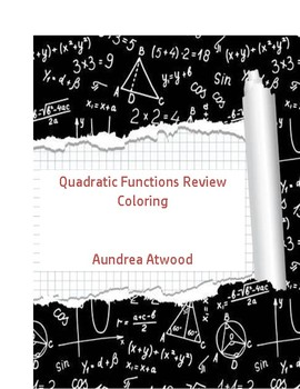 Quadratic Function Review Coloring