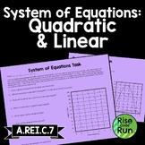 Quadratic Function Task