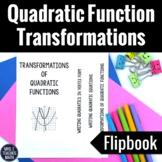 Quadratic Function Transformations Flipbook Notes
