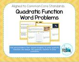Quadratic Function Word Problems