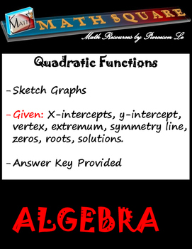 Sketching Quadratic Graphs from Key Features