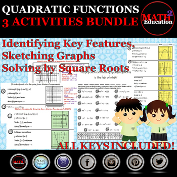 Quadratic Functions - Identify, solve, sketch quadratic functions and graphs