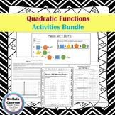 Quadratic Functions Activities Bundle
