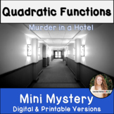 Quadratic Functions Activity! Mini Mystery!