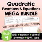 Quadratic Functions MEGA Bundle (Algebra 2 - Unit 4)