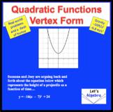 Quadratic Functions: Vertex Form