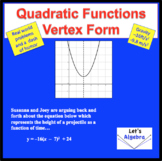 Quadratic Functions: Vertex Form