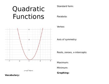 Quadratic Functions Book