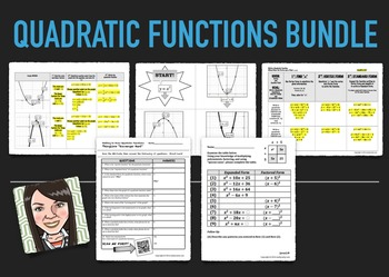 Quadratic Equations Bundle of Activities for Algebra 1
