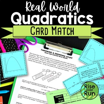 Quadratic Functions Card Match