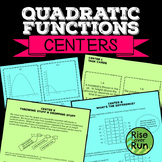 Quadratic Functions Centers with Task Cards, Standard Form