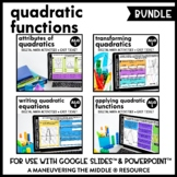 Quadratic Functions Digital Math Activity Bundle | Algebra 1