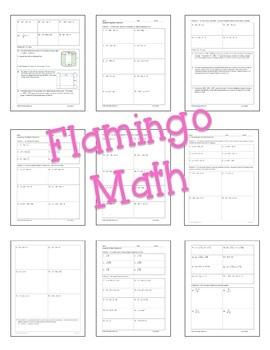 Algebra 2: Quadratic Functions & Equations Homework Bundle