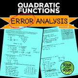 Quadratic Functions Error Analysis
