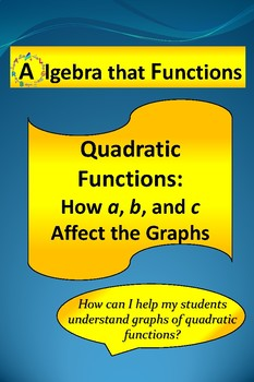"""Quadratic Functions Exploring the Effects of """"a"""", """"b"""", and """"c"""""""
