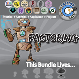 Quadratic Functions, Factoring & FOILing -- Algebra Curriculum Unit Bundle