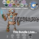 Quadratic Functions, Factoring & FOILing -- Algebra Curriculum Unit Bundle