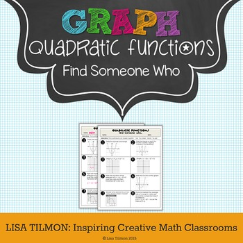 Quadratic Functions Find Someone Who Activity