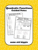 Quadratic Functions Guided Notes