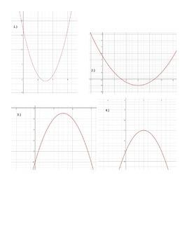 "Quadratic Functions ""Headbands"" Guessing Game"