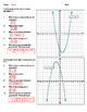 Quadratic Functions - Identify Key Parts Worksheet Bundle