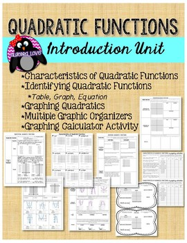 Quadratic Functions Introduction Unit