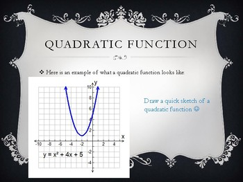 Quadratic Functions: Introduction to the Parabola