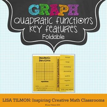 Quadratic Functions Key Features Foldable