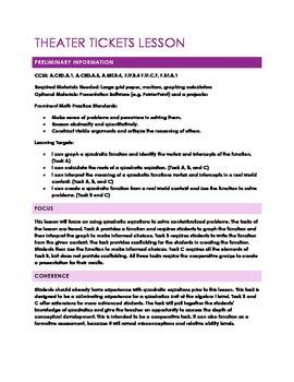 Quadratic Functions Task (Lesson)