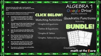 Quadratic Functions Matching BUNDLE - Tables, Graphs, & Equations - Google Drive