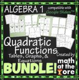 Quadratic Functions Matching BUNDLE Tables, Graphs, & Equations GOOGLE Slides