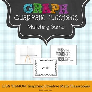 Quadratic Functions Matching Game