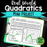 Quadratic Functions Graphing: Mini Project or Extra Credit, Editable