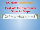 Editable Quadratic Functions Part 1 PowerPoint