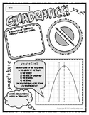 Quadratic Functions Poster!  A Graphic Organizer in Disguise