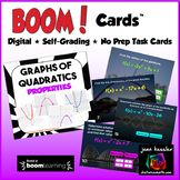 Quadratic Functions Properties with BOOM Cards Digital 1:1 Algebra